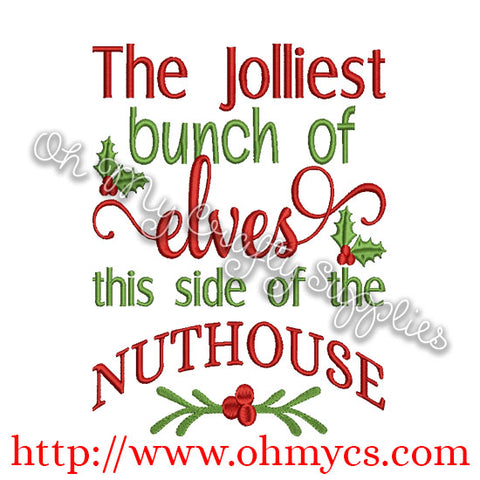 nuthouse elves embroidery design