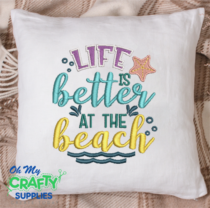 Life Better at Beach 2021 Embroidery Design