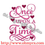 Once Upon a Time Embroidery Design