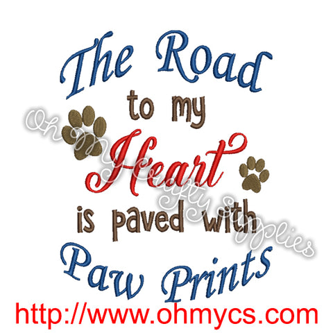 Road to my Heart Embroidery Design