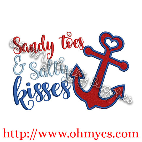 Salty Kisses Embroidery Designs