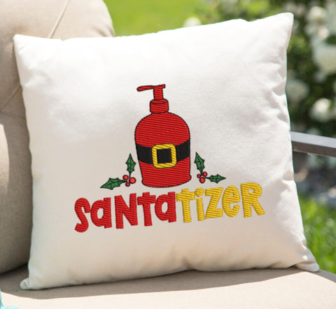 Santatizer Embroidery Design