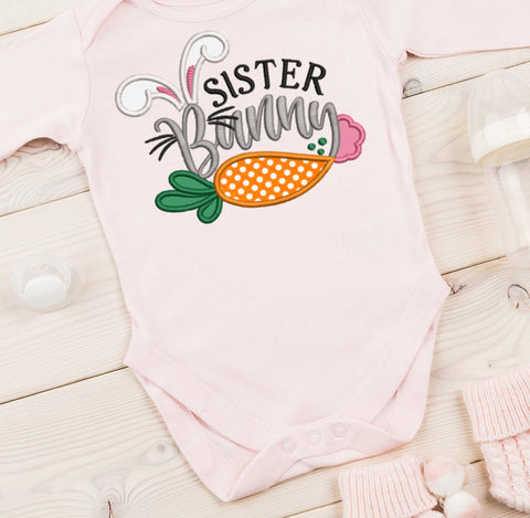 Sister Bunny Applique Design