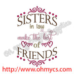 Sisters in law Embroidery Design
