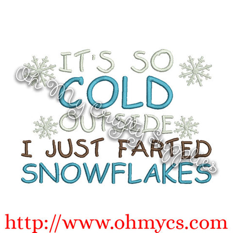 Snowflake Farts Embroidery Design