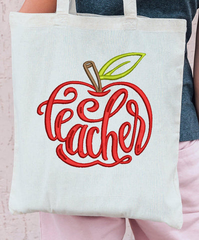 Teacher Apple 2021 Embroidery Design