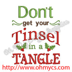 Don't get your Tinsel in a Tangle Embroidery Design