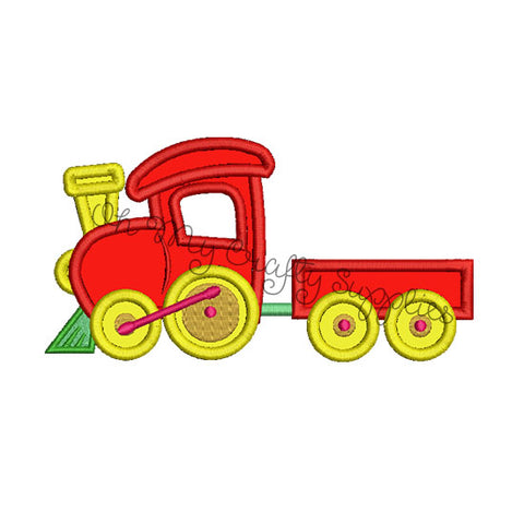 Train Applique Embroidery Design