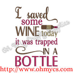 Trapped Wine Embroidery Design