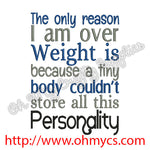 Weight Personality Embroidery Design