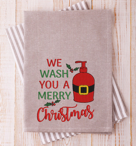 We Wish You Christmas Embroidery Design
