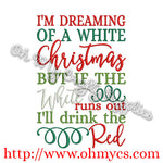Christmas Wine Embroidery Design