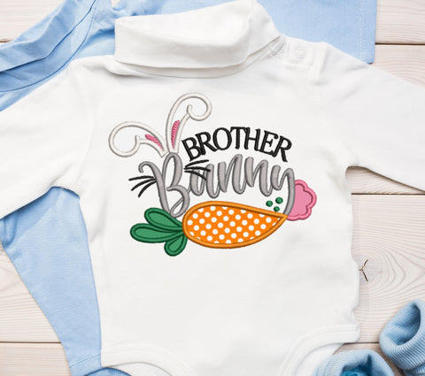 Brother Bunny Applique Design