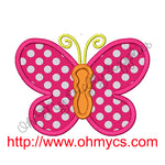 Butterfly Applique Embroidery Design