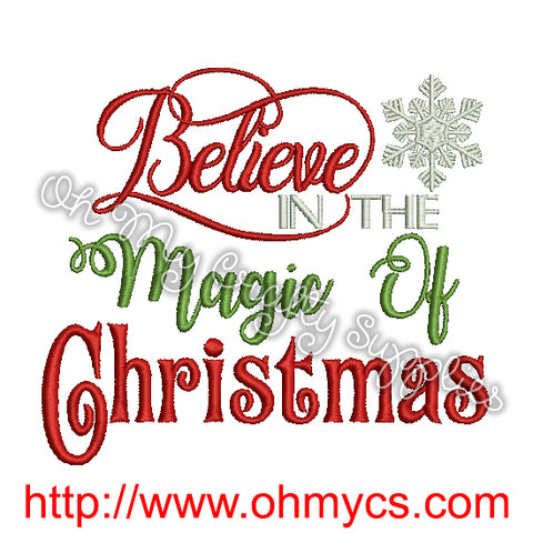 Christmas Magic Embroidery Design