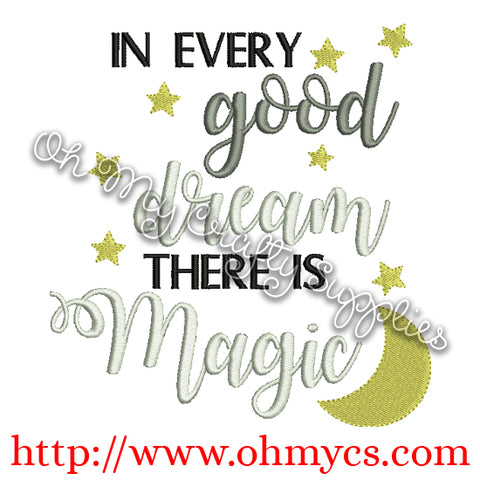 Dream Magic Embroidery Design
