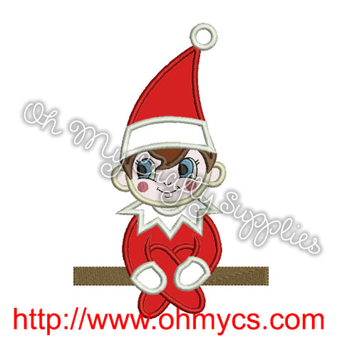 Elf On The Shelf Embroidery Applique