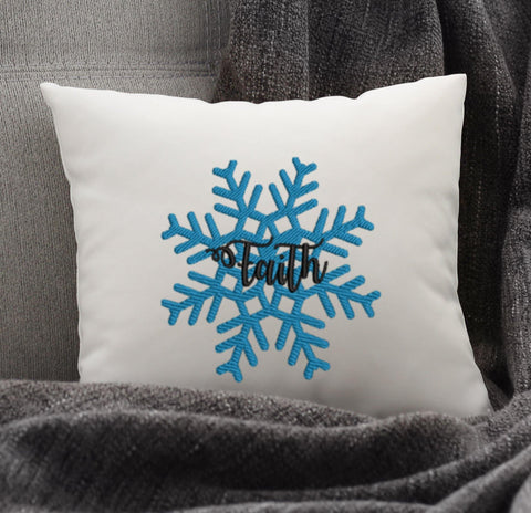 Faith Snow Flake Embroidery Design