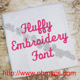 Fluffy Embroidery Font (BX Included)