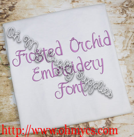 Frosted Orchid Embroidery Font (BX Included)