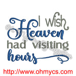 Heaven Visits Embroidery Design