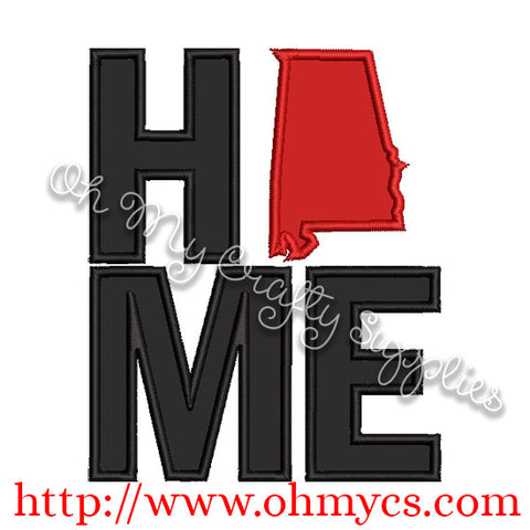 Home Alabama Applique Design
