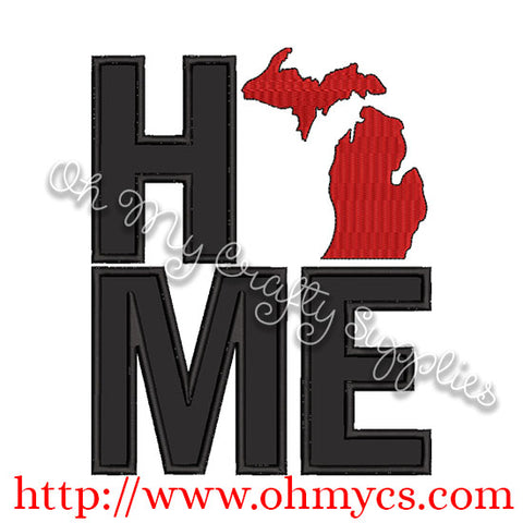 Home Michigan Applique Design