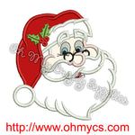 Jolly Santa Embroidery Applique Design