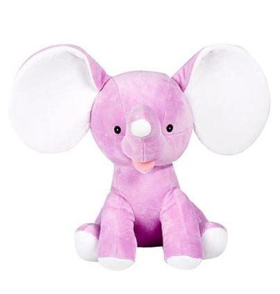 "Cubbies Dumble - 12"" Elephant w/Embroiderable Ears - Purple"