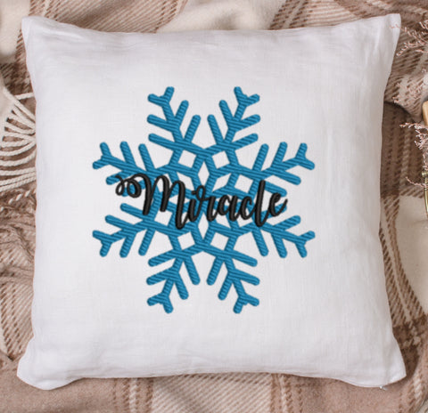 Miracle Snow Flake Embroidery Design