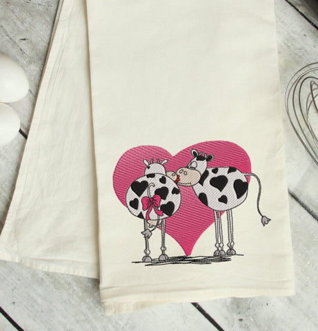 Moo-Love Embroidery Design
