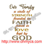 Our Family Embroidery Design