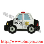 Police Car Applique Design