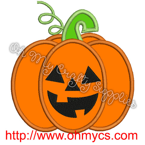 Pumpkin Jack Embroidery Design
