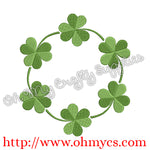 Shamrock Monogram Frame Embroidery Design