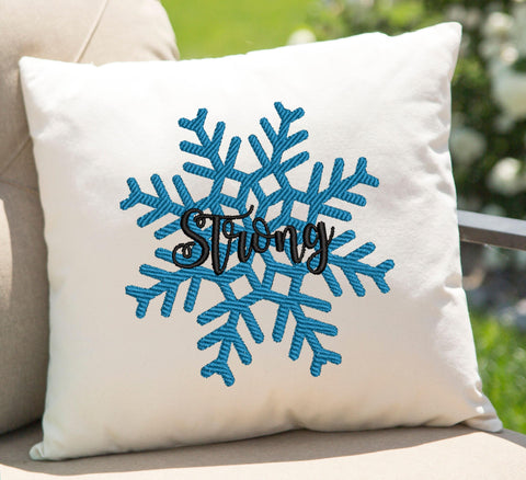 Strong Snow Flake Embroidery Design