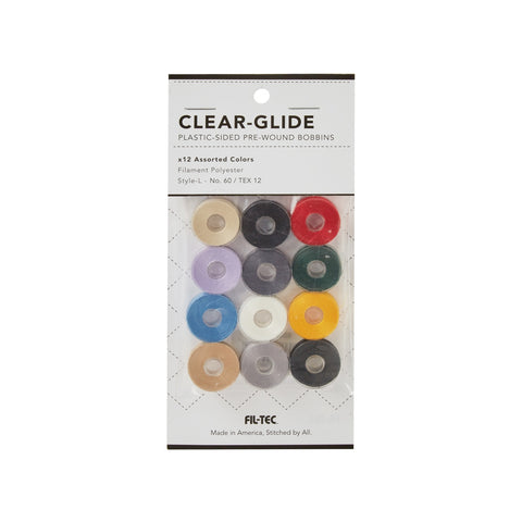 CLEAR GLIDE - 12 PACK - STYLE L ASSORTED COLORS