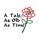 Tale as old as time Embroidery Design