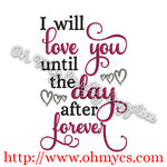 The Day After Forever Embroidery Design