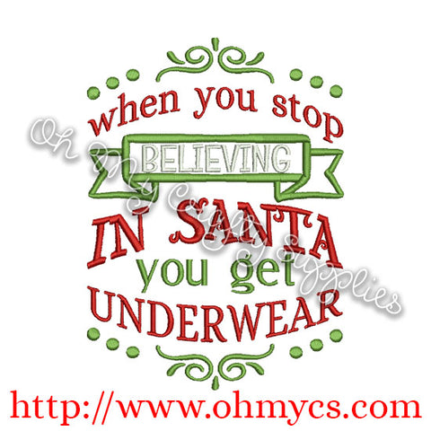 Underwear Christmas Embroidery Design