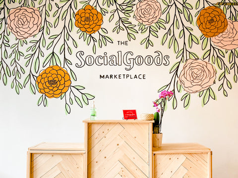 The Social Goods Marketplace mural