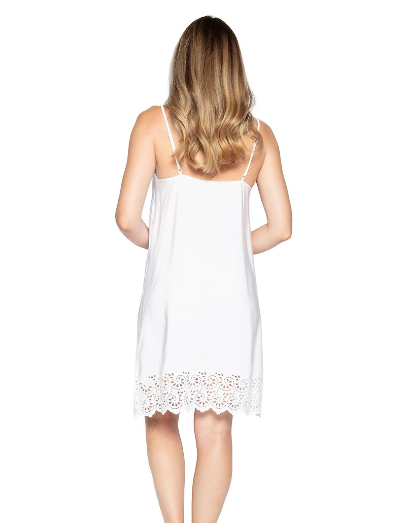 Cyberjammies Embroidered Strappy Chemise - White