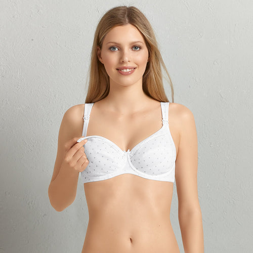 Anita Miss Cotton Nursing Bra with Underwire - Pearl White