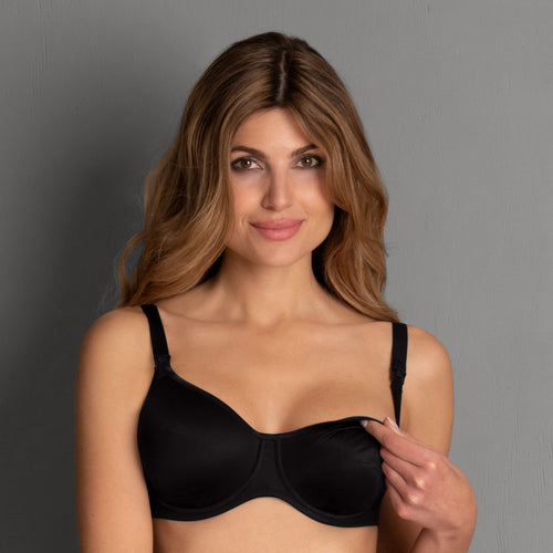 Anita Basic Nursing Bra with Underwire - Black