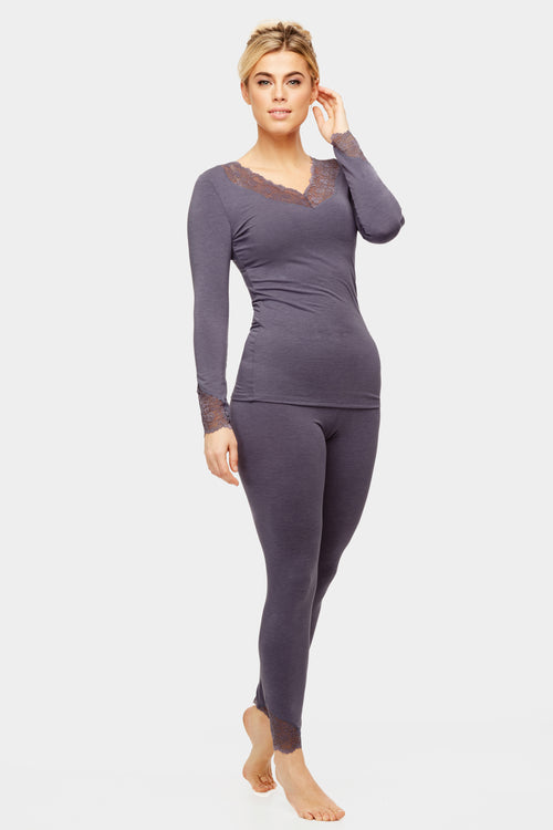 Long Sleeve Body Bliss Loungewear - Denim