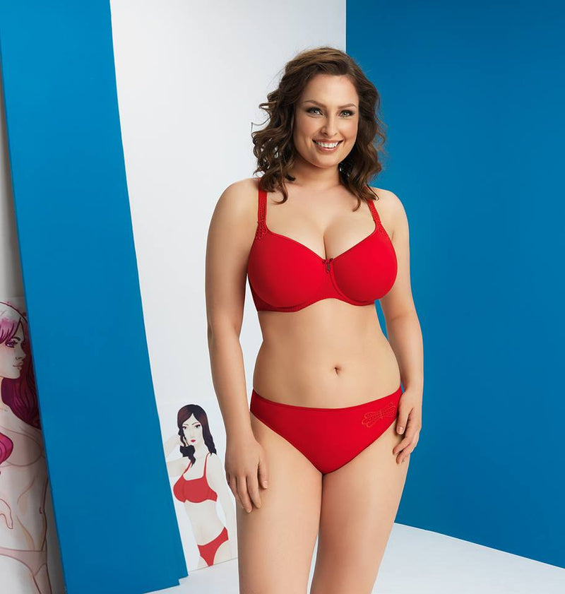 Corin Virginia Spacer Bra - Red