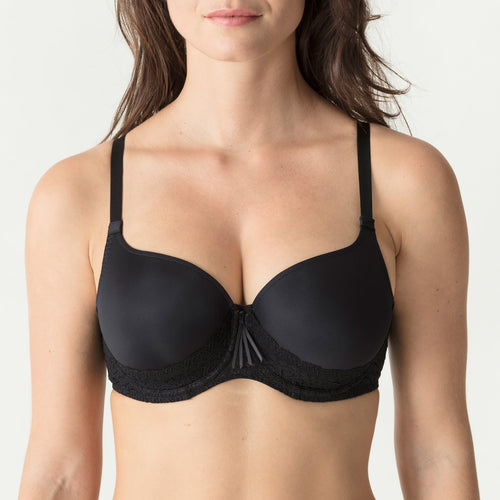 Prima Donna Heart Shape Padded Bra Twist - Black