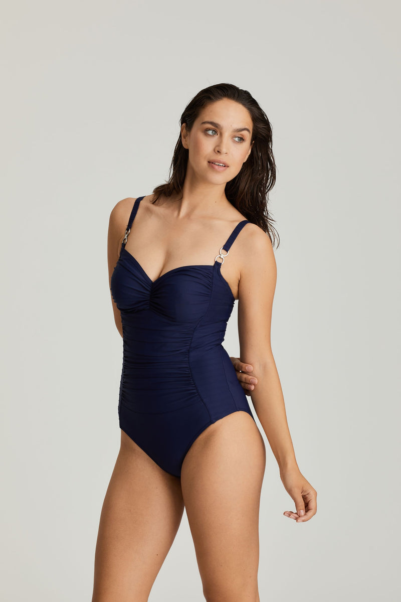 Prima Donna Swimsuit Control Wire Cups - Blue , Black