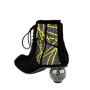 LISA TUCCI - ANDRIA (black velours with a yellow print material)
