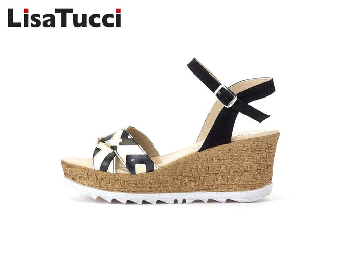 LISA TUCCI - 301 SANDAL YEYE BLACK/WHITE